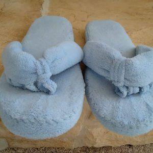 Memory Foam Flip Flop Slippers- Blue